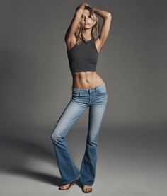 Karlie Kloss Flaunts Her Midriff in Express Denim Campaign - Fashion Gone Rogue