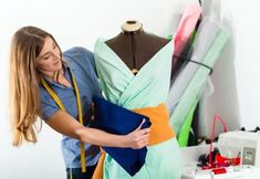 Fashion designer or tailor working in studio. Freelancer - Fashion designer or T , Fashion Design Jobs, Fashion Designer, Doll Dress Patterns, Clothing Patterns, Patron Crochet, Dog Crafts, Fashion Sale, Soft Dolls, Wholesale Fashion