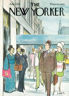 The New Yorker - Monday, August 5, 1974 - Issue # 2581 - Vol. 50 - N° 24 - Cover by : Charles Saxon