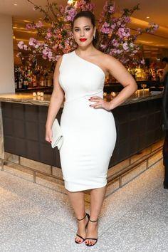 AShley Graham white dress - Week in celeb photos for April 17-21