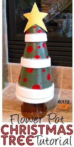 Make Christmas Trees from Flower Pots ~  Easy to follow Tutorial.
