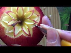 Cantaloupe Carving Design1,Rose Flower,Lessons 7 for Advance,แกะสลักกุหลาบม้วน จาก แคนตาลูป - YouTube