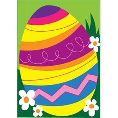 """Easter Egg Garden Flag 13"""" X 18"""""""