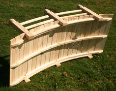 backyard bridge plans | White Cedar Economy Garden Bridge - Painted Black