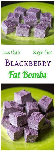 These sugar free blackberry coconut fat bombs are low carb and Paleo. Eat them between meals to stay in ketosis on a ketogenic diet during weight loss.
