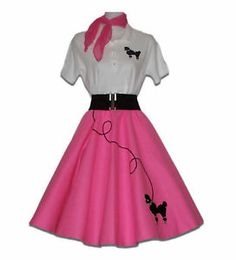 Animals and Nature Costume Accessories Iconic Dresses, 50s Dresses, Pretty Dresses, 50s Costume, Star Costume, Poodle Skirt Outfit, Poodle Skirts, Pink Ladies Grease, 50s Outfits