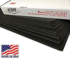 Vibro 228 mil Sound Dampening Waterproof Closed Cell Foam –Car Sound Deadening Material - Automotive Sound Deadener 9 Large Sheets-Buy & Support Made in USA- Not Russia or China Soundproofing Walls, Soundproofing Material, Music Studio Room, Sound Studio, Noise Sound, Car Sounds, Sound Proofing, Diy Wall, Insulation