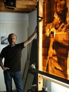 Mark Khaisman exhibition--he creates images using Plexiglas and packing tape.
