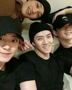 Kai, Chanyeol, Sehun and Chen Park Chanyeol Exo, Exo Kai, Kpop Exo, Suho, Baekyeol, Chanbaek, Xiuchen, Exo Korean, Kim Minseok
