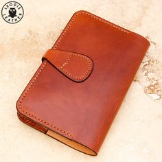 Leather Moleskine Cover 9x14cm Notebook Light by LeodisLeather