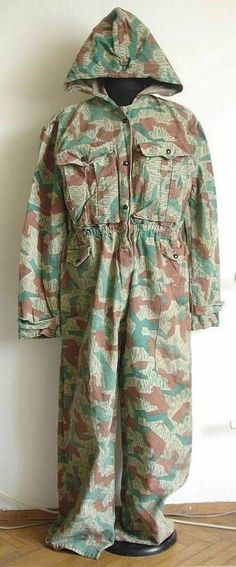 1953 RARE BULGARIAN ARMY CAMO UNIFROM SUIT COVERALL