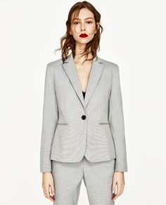 Image 2 of BLAZER WITH SHOULDER PADS from Zara