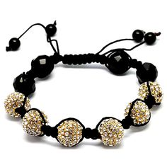 Black and White matches all! This celebrity stylish Shambala disco ball are perfectly blended with black agate. unisex and one size fit all. Let it shine and become the next rock star. Deals are ending soon with this incredible low price.  Today's price: $39.99