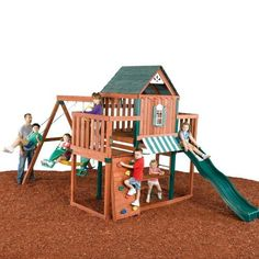 (CLICK IMAGE TWICE FOR UPDATED PRICING AND INFO) Swing - N - Slide WTer Wood Complete Ready - To - Assemble Swing Set Kit - See More Gym Sets & Swings at http://www.zbuys.com/level.php?node=6403=kids-swing-sets