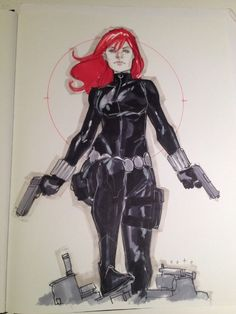 Phil Noto Black Widow Comic Art: