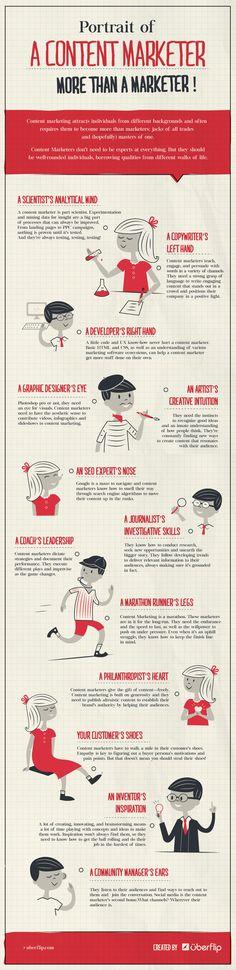 Unique Infographic Design, Portrait Of A Content Marketer via @juanpabloardila #Infographic #Design