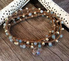 Bohemian wrap crochet jewelry Boho chic bracelet or by jewlsoflove, $32.00
