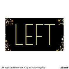 Left Right Christmas Gift Passing Game #NaughtySanta