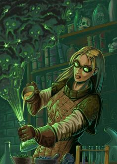 Female Alchemist - Pathfinder PFRPG DND D&D d20 fantasy