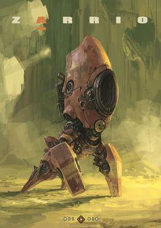 Robot or mech, sci-fi / cyberpunk inspiration Zarrio by Eduardo García on ArtStation. Cyberpunk, Arte Sci Fi, Sci Fi Art, Fantasy Anime, Fantasy Art, Character Concept, Character Design, 3d Character, Arte Robot