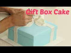Tiffany & Co. Square Gift Box Cake