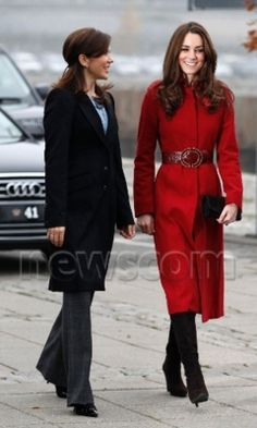 Kate-love this red coat and belt