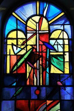 Stained Glass Window - Flateyri Church, Iceland
