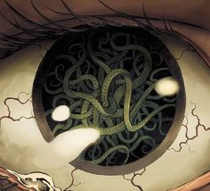 Lovecraft, Cthulhu and insanity? Then check this out. A limited edition comic that recasts H. Lovecraft as a modern-day, kick-ass action hero & alchemist. Hp Lovecraft, Lovecraft Cthulhu, Arte Horror, Horror Art, Dark Fantasy Art, Dark Art, Necronomicon Lovecraft, Lovecraftian Horror, Eldritch Horror