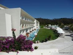 Secrets Huatulco, a view to the swim out rooms