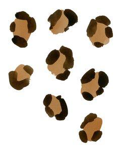Leopard spots.