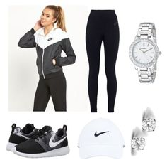 """Untitled #42"" by jadechanteon on Polyvore featuring NIKE, FOSSIL and Glitzy Rocks"