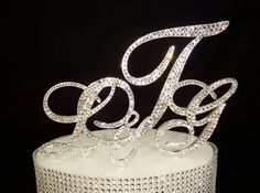 Triple Monogram Initial Swarvoski Crystal and by SpectacularEvents