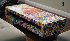 Eight creative LEGO furniture designs for modern spaces  Very adorable.  COFFEE TABLE!