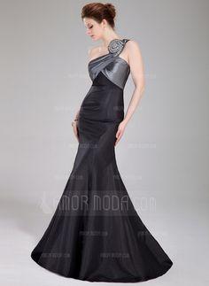 Prom Dresses - $155.99 - Trumpet/Mermaid One-Shoulder Floor-Length Taffeta Prom Dress With Ruffle Beading (018005107) http://hochzeitstore.com/Trumpet-Mermaid-One-shoulder-Floor-length-Taffeta-Prom-Dress-With-Ruffle-Beading-018005107-g5107