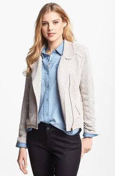 Halogen® Knit Moto Jacket available at #Nordstrom