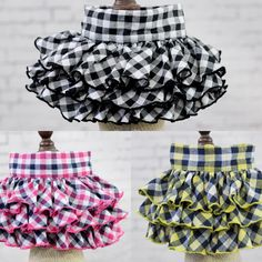 Fashion Plaid Floral Small Dog Skirts Puppy Pet Cat wedding dress Summer dog clothes pet clothing for chihuahua teddy Girls Frock Design, Baby Dress Design, Baby Girl Dress Patterns, African Dresses For Kids, Dog Dresses, Little Girl Dresses, Baby Frocks Designs, Kids Frocks Design, Kids Dress Wear