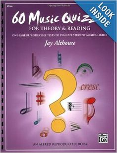 60 Music Quizzes (For Theory & Reading): Jay Althouse: 9780739043981: Amazon.com: Books
