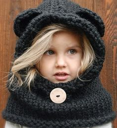 Cozy and warm bear hat for kids