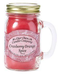 Look at this #zulilyfind! Cranberry Orange Spice Mason Jar Candle - Set of Two #zulilyfinds