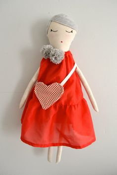 Handmade Cloth Doll by tippitoetailor on Etsy