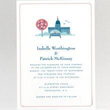 Visit Washington, D.C.: Wedding Invitation