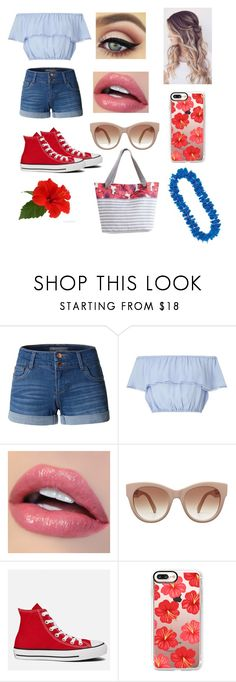 """Beach Party 🌺"" by cdimi777 ❤ liked on Polyvore featuring beauty, LE3NO, Miss Selfridge, STELLA McCARTNEY, Converse, Casetify and Maaji"