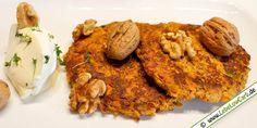 Vegetarisches Low Carb Rezept - Karotten-Kresse-Puffer auf lebelowcarb.de