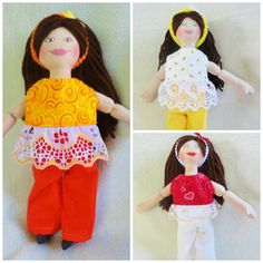Brunette Dress Up Doll - OOAK Toys