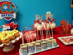 paw patrol candy table
