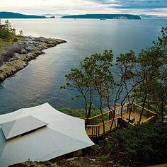 Rockwater Secret Cove Resort B.C.: Think fireplaces, heated tile floors, silk shoji ― plus the sound of winter waves against the shore. If you can force yourselves to part from these digs, explore the surrounding rain forest.