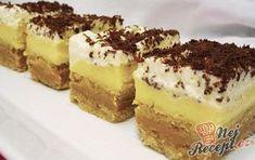 Nepečené zákusky jsou ty nej! BEBE sušenky v kombinaci s karamelovou a vanilkovou nádivkou jsou neodolatelné. Na vrchu vyšlehaného šlehačka posypaná strouhanou čokoládou. Byla to řádná kalorická bomba, pokud máte rádi velmi sladké koláče, ať se líbí, tento recept je právě pro vás :) Určitě vyzkoušejte, jeden z těch lepších nepečených koláčků :) Autor: Jaja79