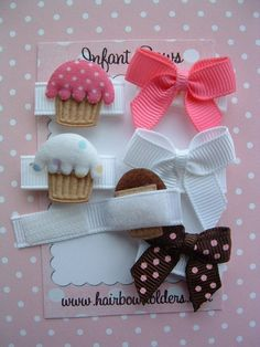 Velcro NB hairbows - awesome idea. I could totally sew this.