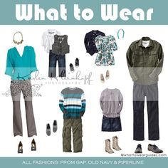 What to Wear in Family Photos - October photography, family portraits, clothing color schemes Family Photos What To Wear, Fall Family Photos, Family Pictures, Holiday Pictures, Family Photo Colors, Family Picture Outfits, Clothing Photography, Photography Ideas, Family Photo Sessions