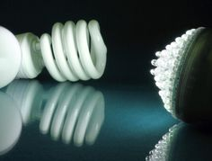 LEDs and CFLs are both energy-efficient light sources - but how do you choose? Explore differences between the two light sources, starting with efficacy. Energy Efficient Lighting, Light Up, Led, Pegasus, Creative, Doors, Education, Light Fixtures, Lighting